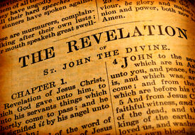 pic of christian cross  - Close up of old Holy bible book - JPG