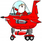 image of starship  - This illustration depicts Santa Claus in the cockpit of a whimsical starship - JPG