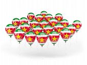 picture of suriname  - Balloons with flag of suriname isolated on white - JPG