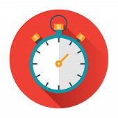 stock photo of stopwatch  - stopwatch icon ftat vector isolated trendy illustration - JPG
