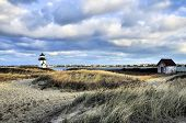 image of rebuilt  - The little lighthouse at Brant Point in Nantucket - JPG