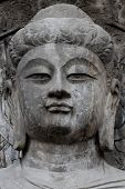 stock photo of grotto  - Longmen Grottoes caves with Buddha - JPG