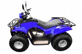 blue 4x4 quad-bike atv isolated