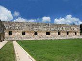 picture of yucatan  - Uxmal ruins at yucatan peninsula in mexico - JPG