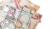 pic of bahrain  - Modern Bahrain dinars banknotes close - JPG