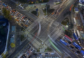 picture of overpopulation  - Urban traffic and congestion with Speed and Motion concept - JPG