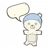picture of bear-cub  - cartoon polar bear cub - JPG