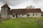stock photo of church-of-england  - St Marys Church in Michelmersh is a 12th century church located 3 miles north of Romsey situated in the rural Test Valley area of Hampshire - JPG