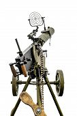 stock photo of maxim  - Maxim machine gun on board military vehicles isolated on white background - JPG
