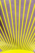 stock photo of iron star  - Yellow bars of iron rays on lilac background - JPG