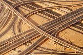 pic of dubai  - Highway road intersection in Dubai - JPG