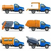picture of lorries  - Lorry Icons Set 5 including truck with tipper - JPG