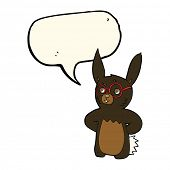 picture of spectacles  - cartoon rabbit wearing spectacles with speech bubble - JPG