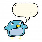 foto of bluebird  - cartoon bluebird with speech bubble - JPG