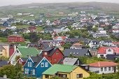 picture of faro  - View over Torshavn on Faroe islands in summer - JPG