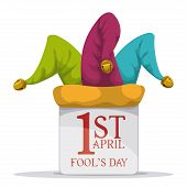 foto of fool  - April fools day design - JPG