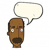 foto of annoyance  - cartoon annoyed old man with speech bubble - JPG