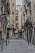 stock photo of gothic  - The Gothic Quarter is the centre of the old city of Barcelona - JPG