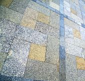 stock photo of stepping stones  - in asia bangkok thailand abstract pavement cross stone step in the temple reflex - JPG