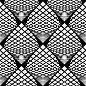 picture of quadrangles  - Design seamless monochrome checked geometric pattern - JPG