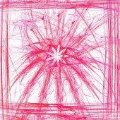 stock photo of plasmatic  - Plasmatic floral motif in simple frame - JPG