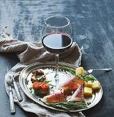 image of red meat  - Wine appetizer set - JPG