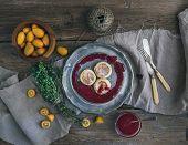image of kumquat  - Rustic breakfast set - JPG