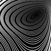 stock photo of twist  - Design monochrome whirl ellipse movement background - JPG