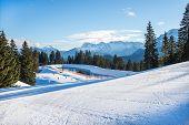 Постер, плакат: Garmisch partenkirchen Ski Resort Bavarian Alps