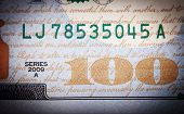 picture of one hundred dollar bill  - Banknote - JPG