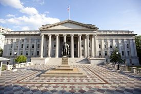 image of treasury  - treasury department building located in washington d - JPG