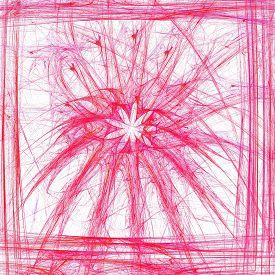 foto of plasmatic  - Plasmatic floral motif in simple frame - JPG
