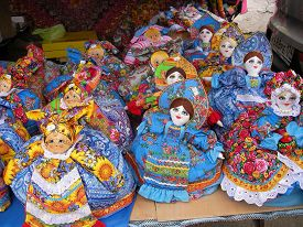 stock photo of rag-doll  - Products of national creativity doll rag multi - JPG