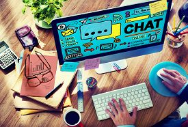 picture of chat  - Chat Chatting Communication Social Media Internet Concept - JPG