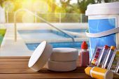 Swimming Pool Service And Chemicals And Pool Background poster