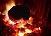 picture of funeral home  - Close up photo of a fireplace - JPG