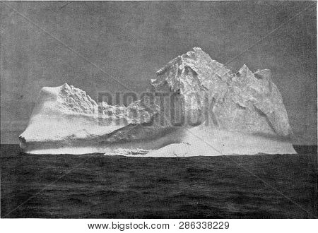 A floating iceberg in the