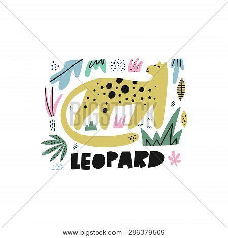 Cute Leopard Flat Hand Drawn