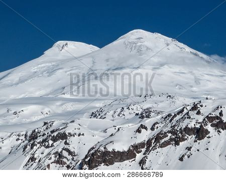 Snowy Peaks Of Mount Elbrus