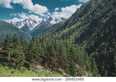Elbrus Mountains In Summer