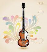 Постер, плакат: Виола электрическая бас гитара от шестидесятых