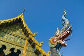 The Blue Temple Or Wat Rong Sua Ten Temple With Blue Sky Background, Chiang Rai Province, Thailand.  poster