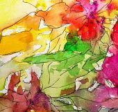 Watercolor.abstract Bright Colorful Decorative Watercolor Background. Watercolor. Handmade Floral Pa poster