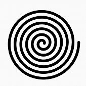 Psychedelic Figure Of A Spiral, Circulation. Flat Vector Illustration Isolated poster