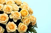Large Bouquet Of Yellow Roses poster