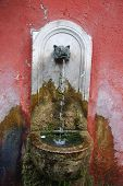 stock photo of spqr  - A traditional fountain in Rome - JPG