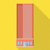 Vector Design Of Skyscraper And Hotel Sign. Collection Of Skyscraper And Center Stock Symbol For Web poster