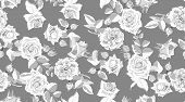 Seamless Floral Pattern. Roses In Watercolor Style. Vintage Flower, Rustic Wedding Decorative Elemen poster