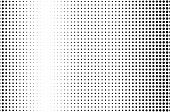 Abstract Monochrome Halftone Pattern. Futuristic Panel. Grunge Dotted Backdrop With Circles, Dots, P poster