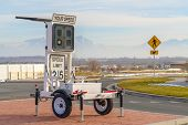 Radar Speed Display Trailer With Speed Limit Sign poster